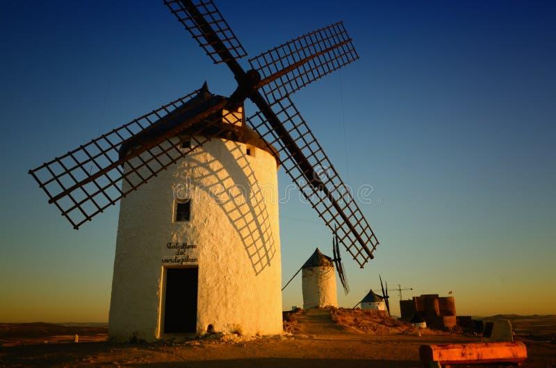 Moinhos de vento Consuegra de Don Quixote, Toledo Spain fotos de stock