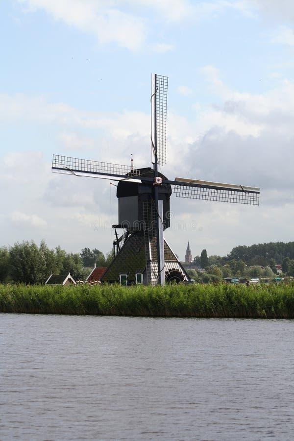 Moinhos de vento de Kinderdijk na Holanda imagens de stock royalty free