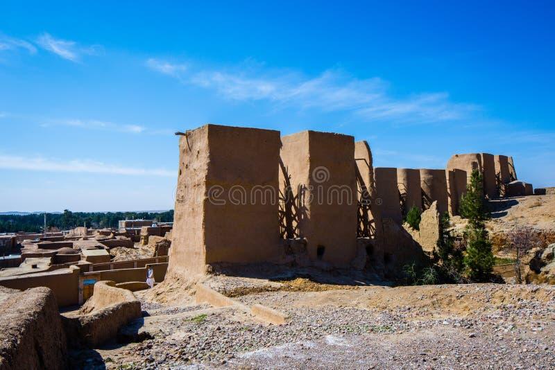 Moinhos de vento de Nashtifan, Khaf, Irã Os moinhos de vento operacionais os mais velhos no mundo fotografia de stock