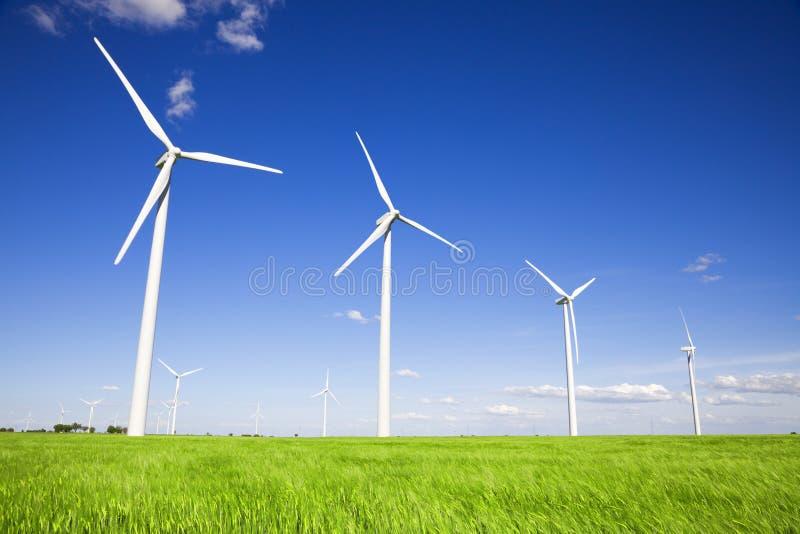 Download Moinhos De Vento Sobre Campos Verdes Imagem de Stock - Imagem de tecnologia, conservation: 10060835