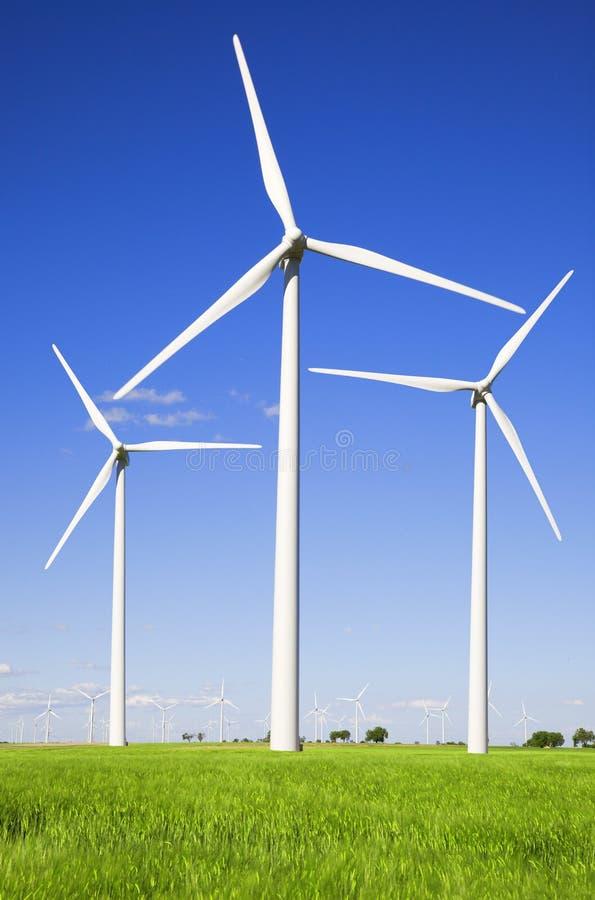 Download Moinhos De Vento Sobre Campos Verdes Imagem de Stock - Imagem de renewable, potência: 10061151