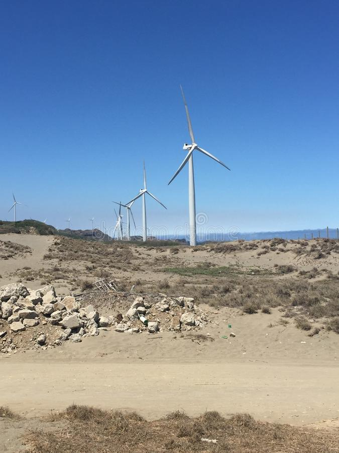 Moinhos de vento surpreendentes foto de stock royalty free