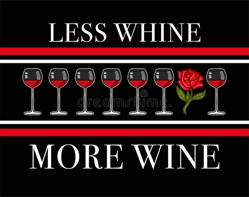 Moins de gémissement plus de vin illustration libre de droits
