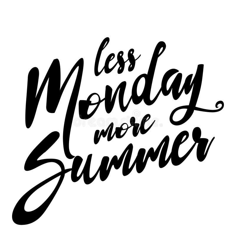 Moins de lundi plus d'été illustration stock