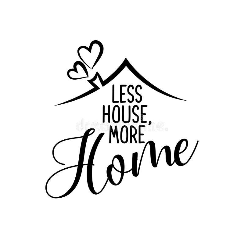 Moins de maison plus de maison illustration de vecteur