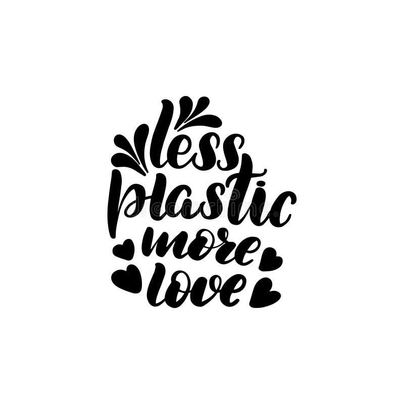 Moins en plastique plus d'amour illustration libre de droits