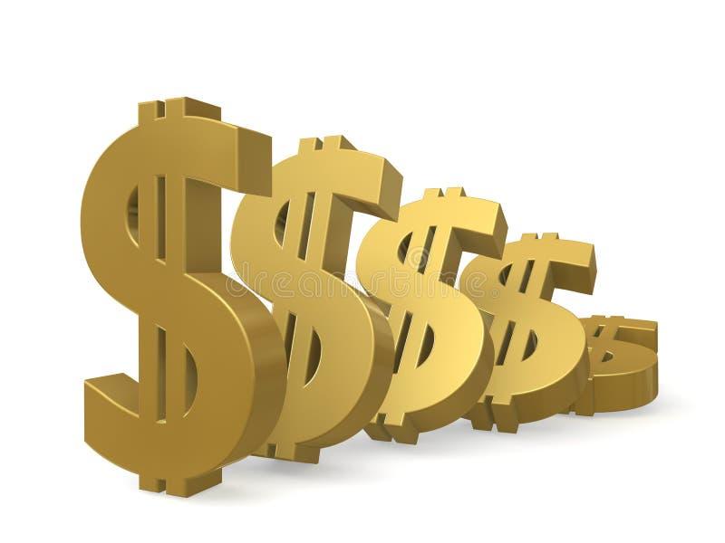 Moins-value Du Dollar Images libres de droits
