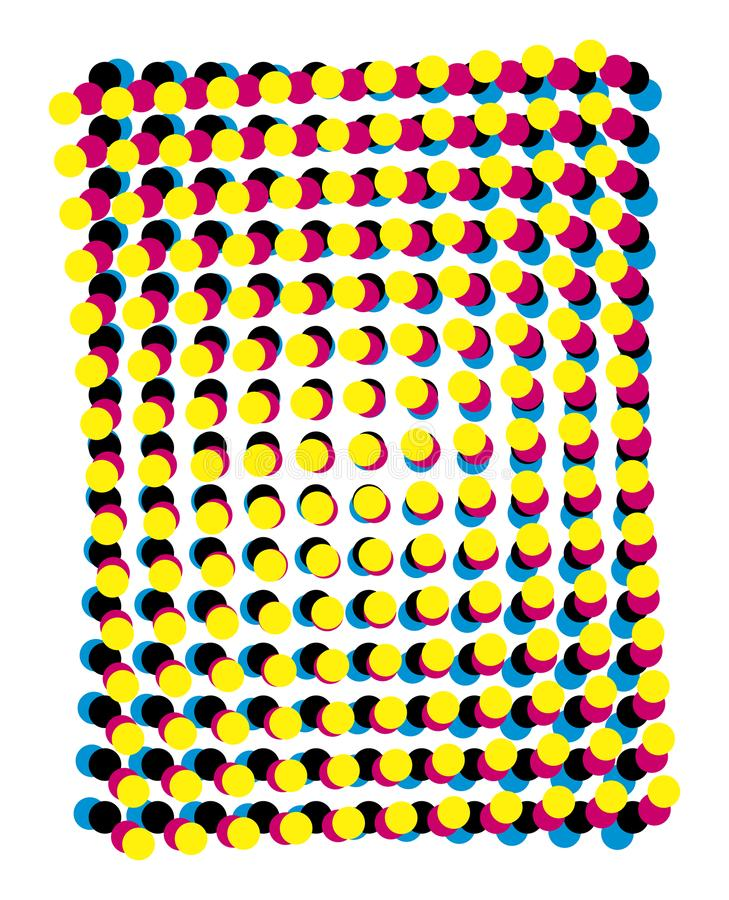 Moiré de Cmyk - cores de processo mal ajustadas ilustração royalty free