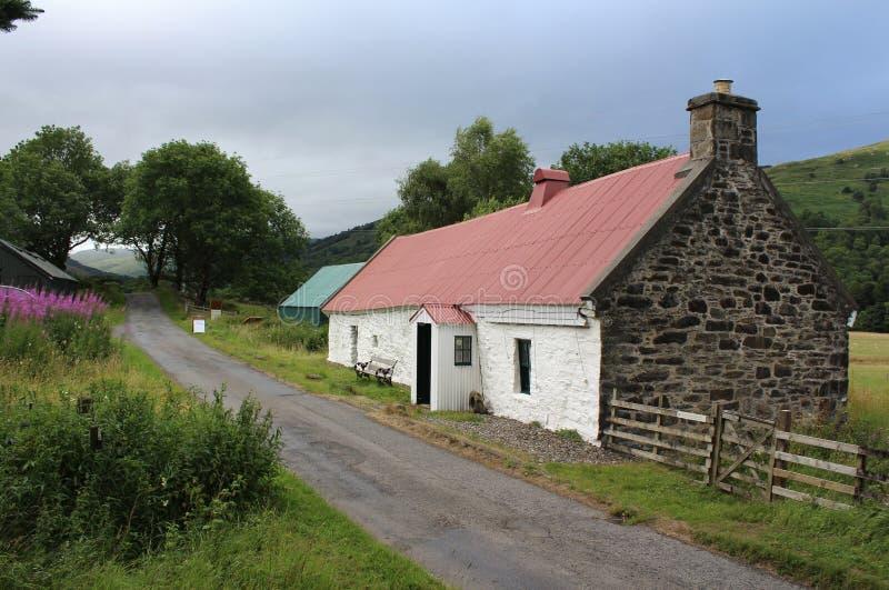 Moirlanich Longhouse, montanhas escocesas fotos de stock royalty free