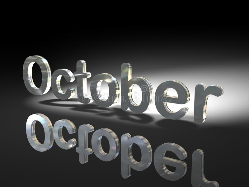 Mois d'octobre illustration libre de droits
