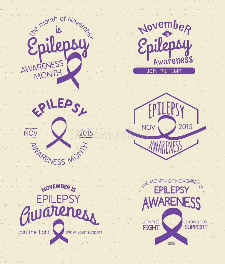 Mois de conscience d'épilepsie illustration de vecteur