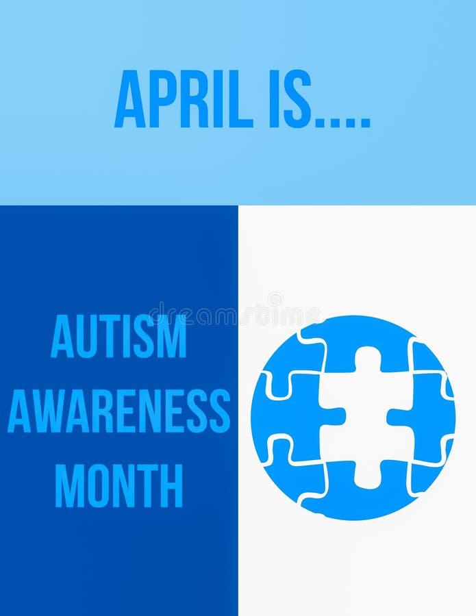 Mois de conscience d'autisme illustration libre de droits