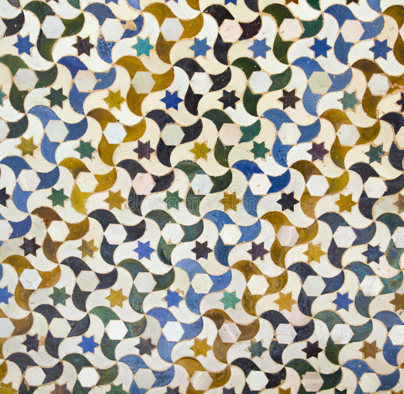 Mosaic in Alhambra, Granada. royalty free stock photo
