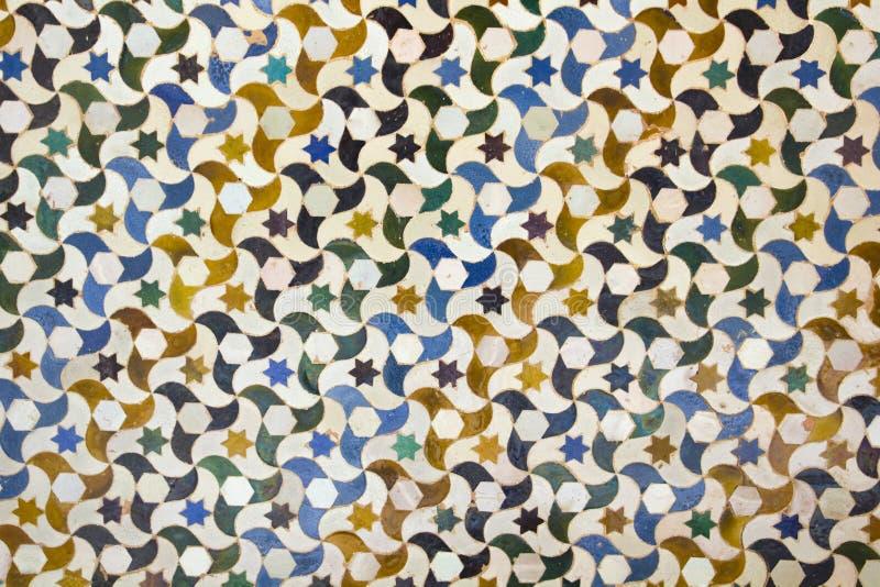 Mosaic in Alhambra, Granada. stock images