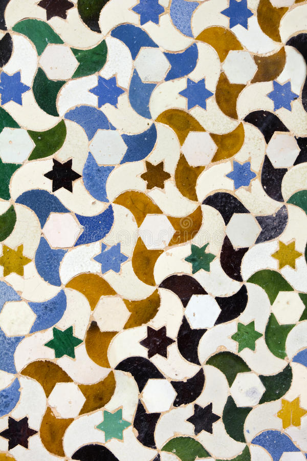 Mosaic in Generalife, Granada. stock photography