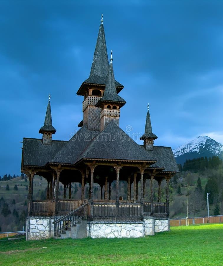 Moisei Monastery in Maramures stock photo