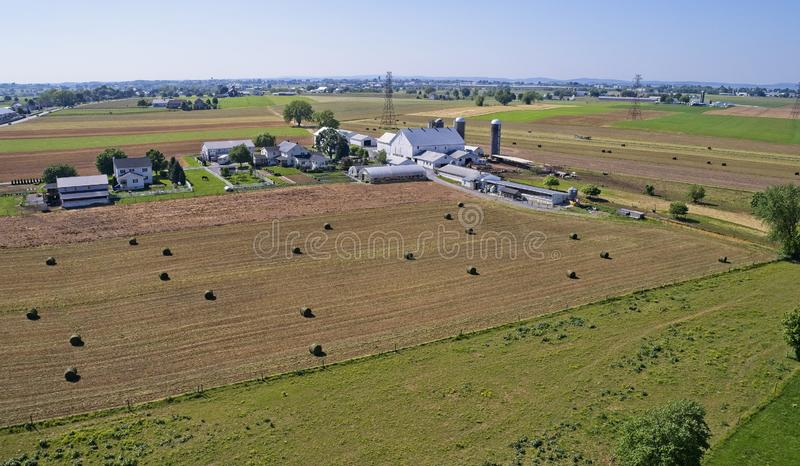 Moisson amish d'agriculteurs images stock