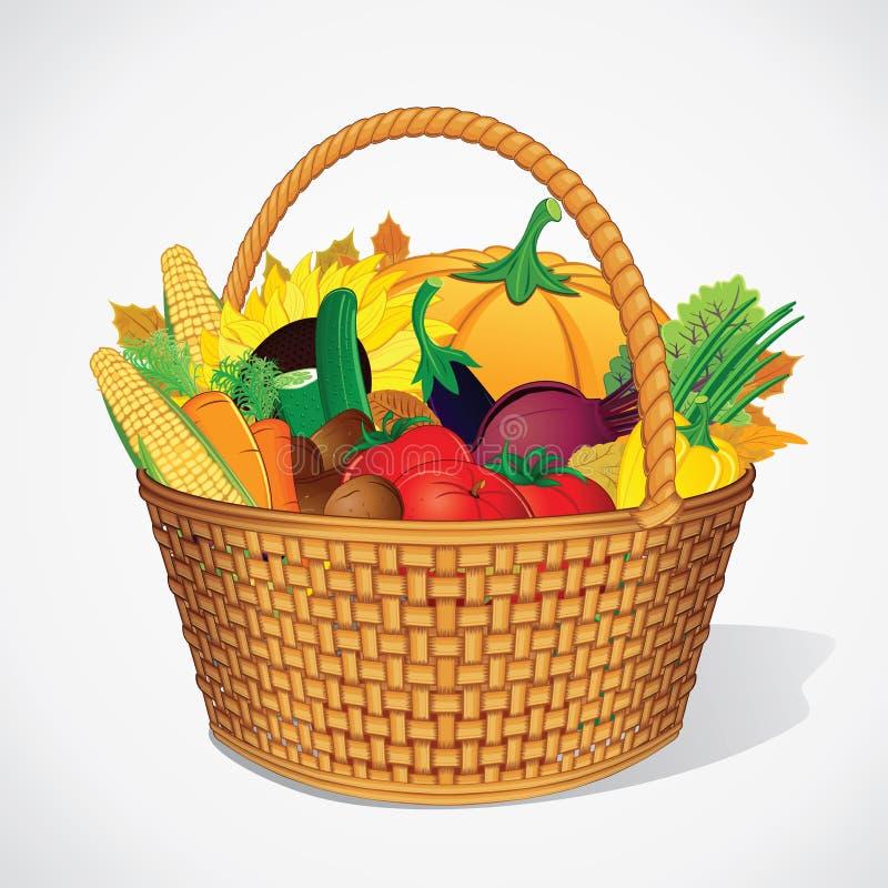 Moisson d'Autumn Vegetable et de fruits illustration de vecteur