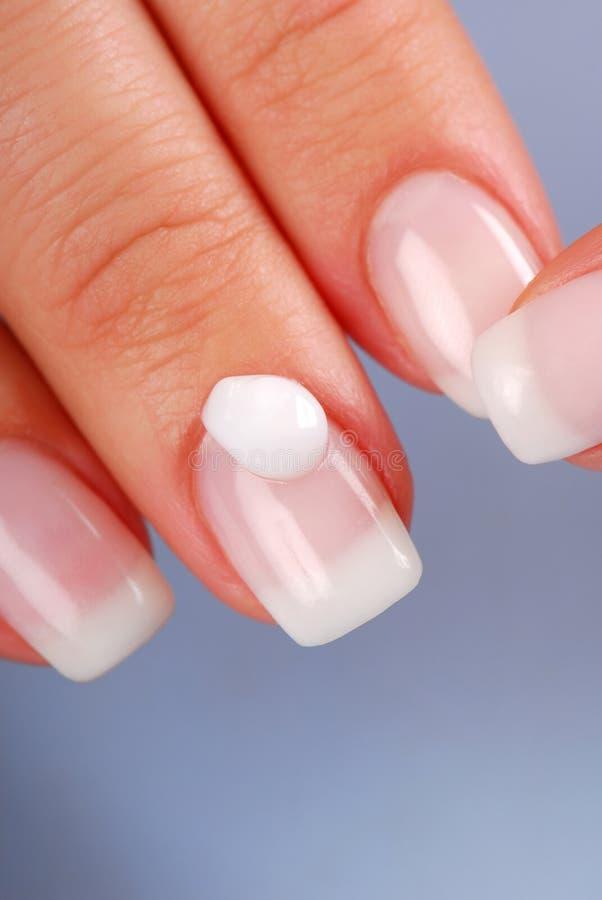 Moisturizer for nail stock photo