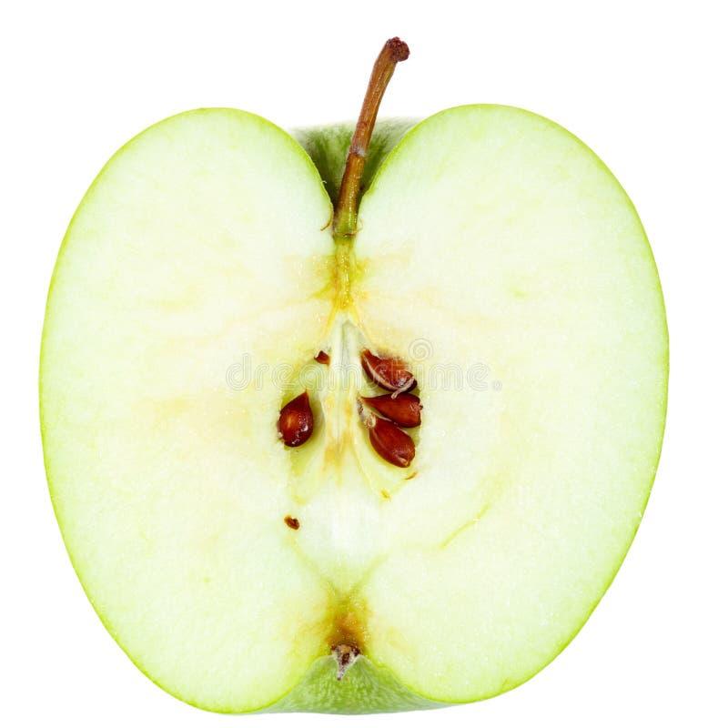 Moitié d'Apple photographie stock