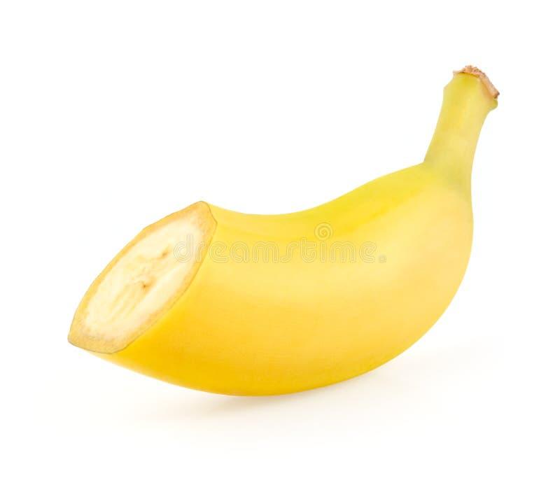 Moitié d'une banane photos stock