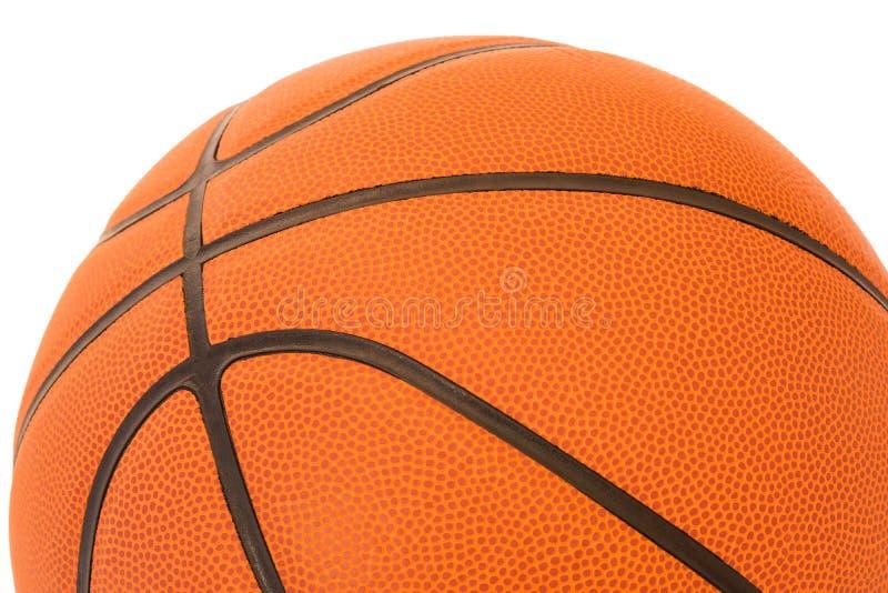 Moitié de basket-ball d'isolement sur un fond blanc images libres de droits