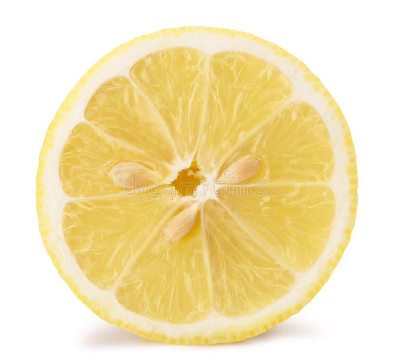 Moitié de citron sur un fond blanc image stock