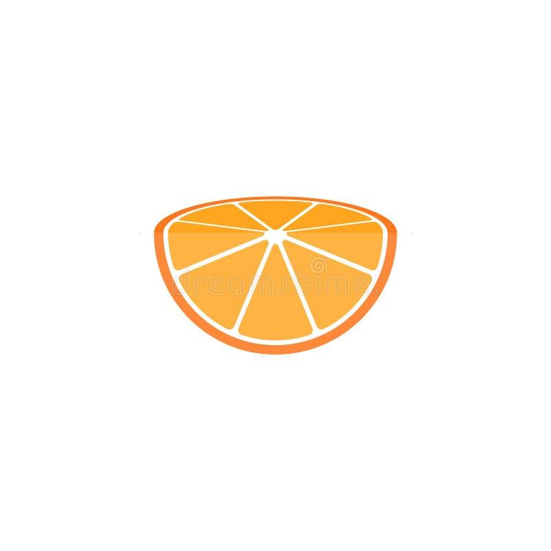 Moitié de logo orange de tranche illustration de vecteur