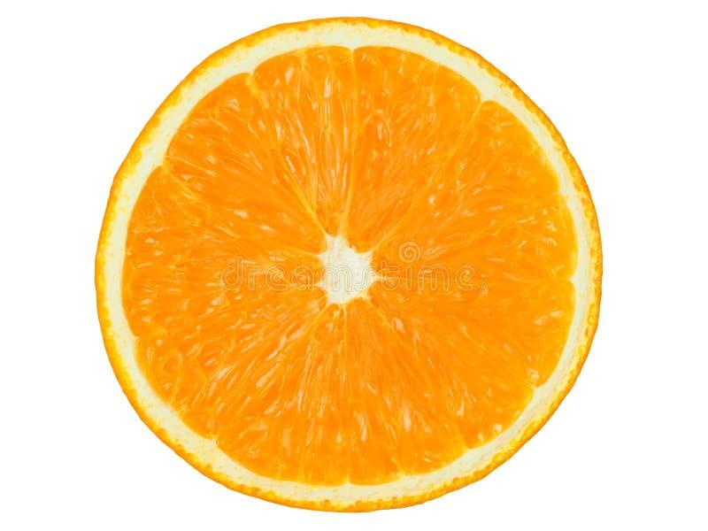 Moitié orange sur le blanc image libre de droits