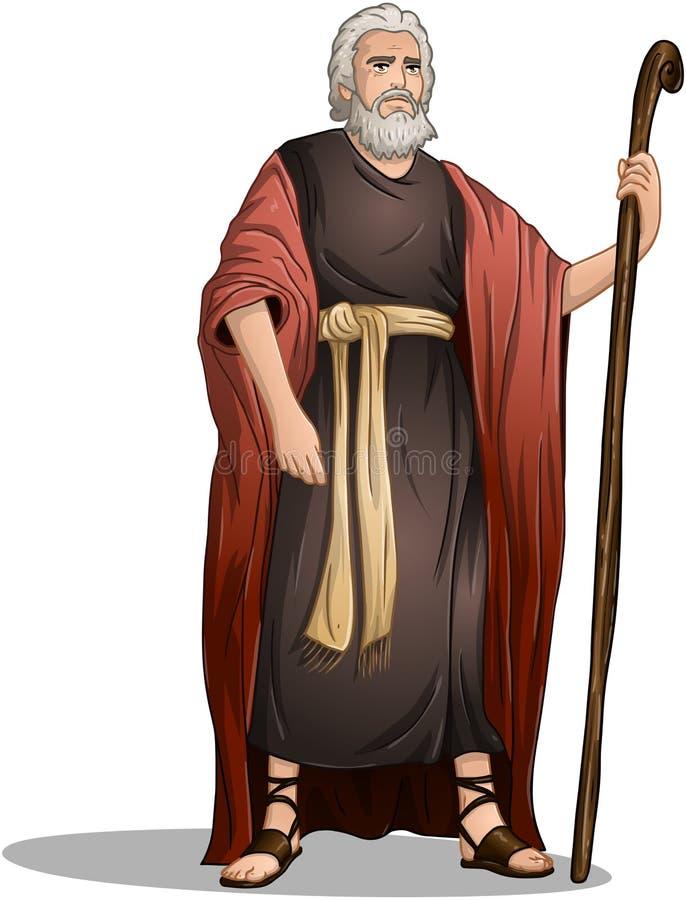 Mojżesz Od biblii Dla Passover royalty ilustracja