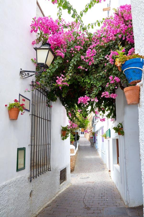 Mojacar阿尔梅里雅白色地中海村庄西班牙 免版税图库摄影