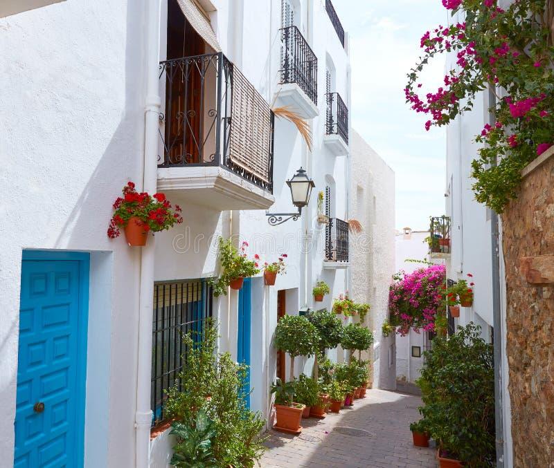 Mojacar阿尔梅里雅白色地中海村庄西班牙 库存图片