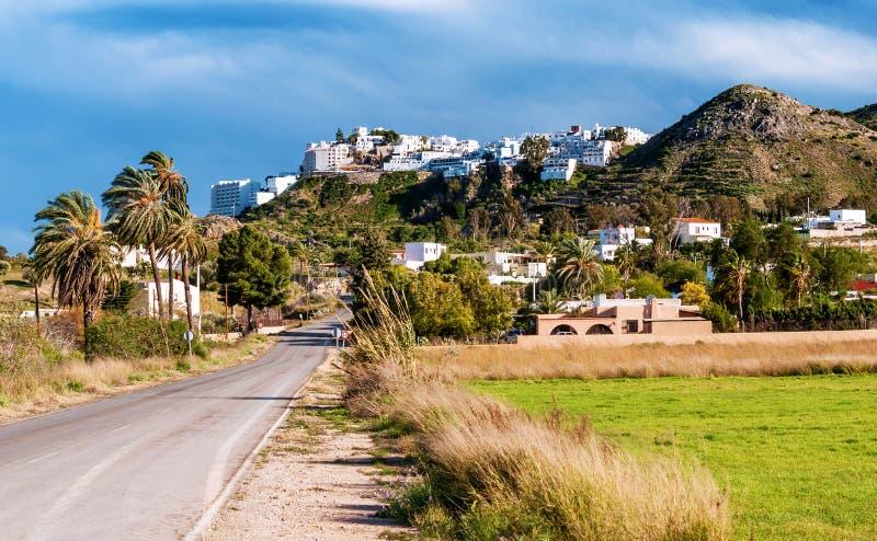 Download Mojacar wioska obraz stock. Obraz złożonej z szczyt, błękitny - 28956335
