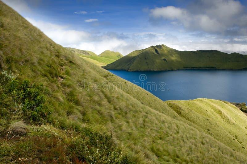 Download Mojanda lagoon in Ecuador stock photo. Image of panorama - 25650014
