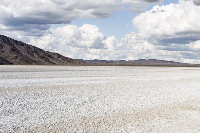 Mojave Desert. Drought stricken dry lake bed in California's Mojave Desert National Preserve stock photo