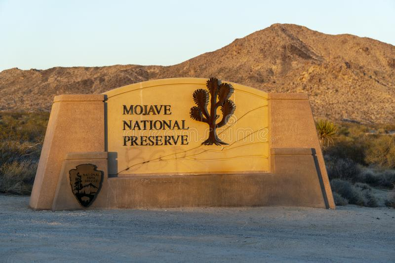The Mojave desert royalty free stock photography