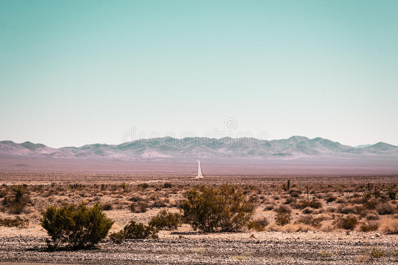 Mojave Desert near Route 66 in California royalty free stock image
