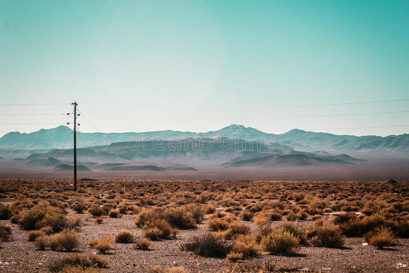 Mojave Desert near Route 66 in California. Photo of Mojave Desert near Route 66 in California royalty free stock images