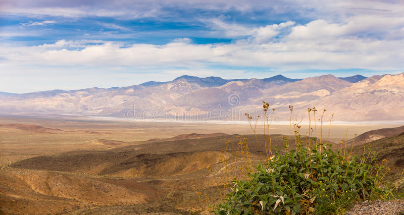 Mojave desert. Panno of Mojave desert looks like a Mars landscape. Mojave, Nevada, USA stock photo