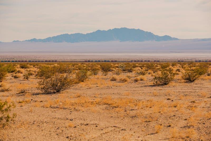 Mojave Desert Railroad royaltyfria foton