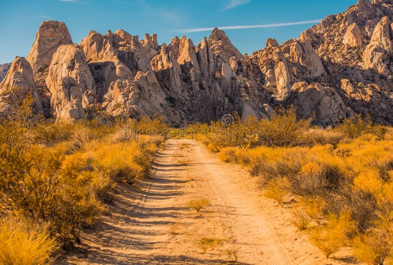 Mojave Desert Rock Formation. Scenic Desert Landscape in Southern California, United States of America stock photos