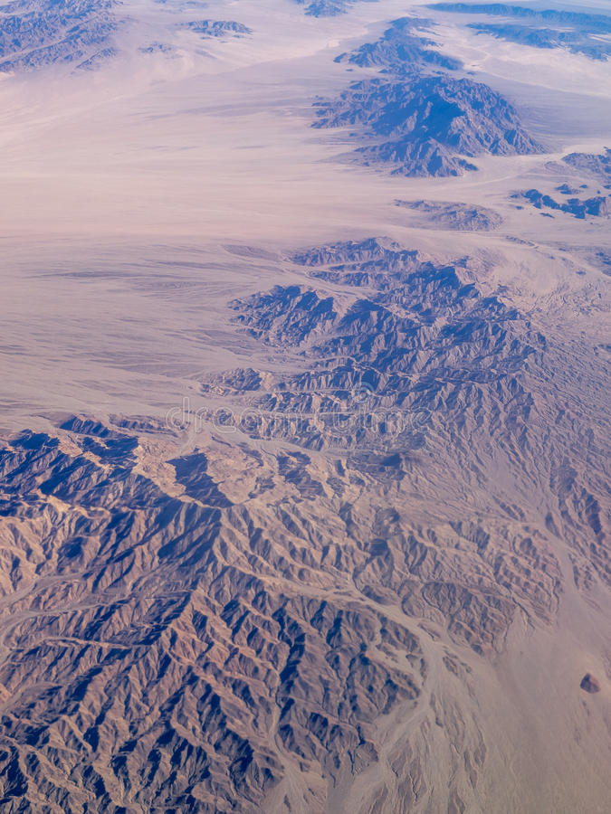 Mojave Desert. Seen from the air stock photo