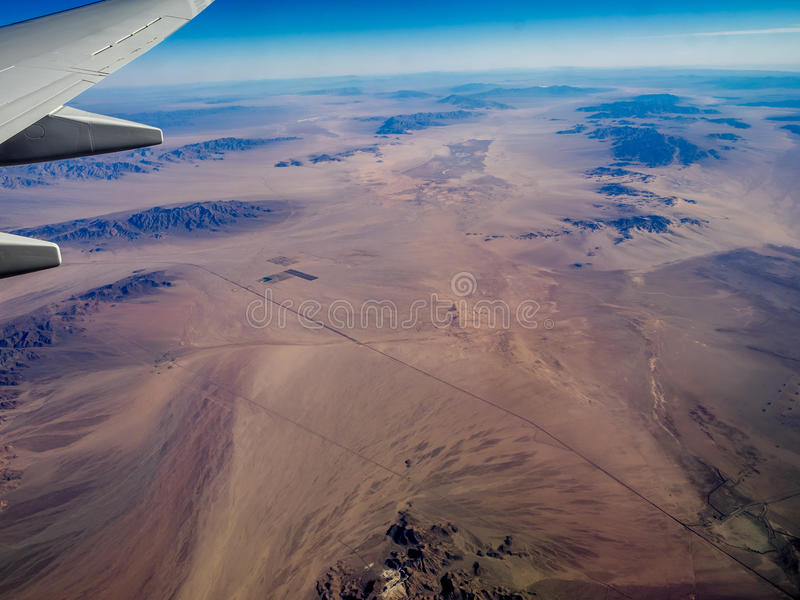 Mojave Desert. Seen from the air royalty free stock photography