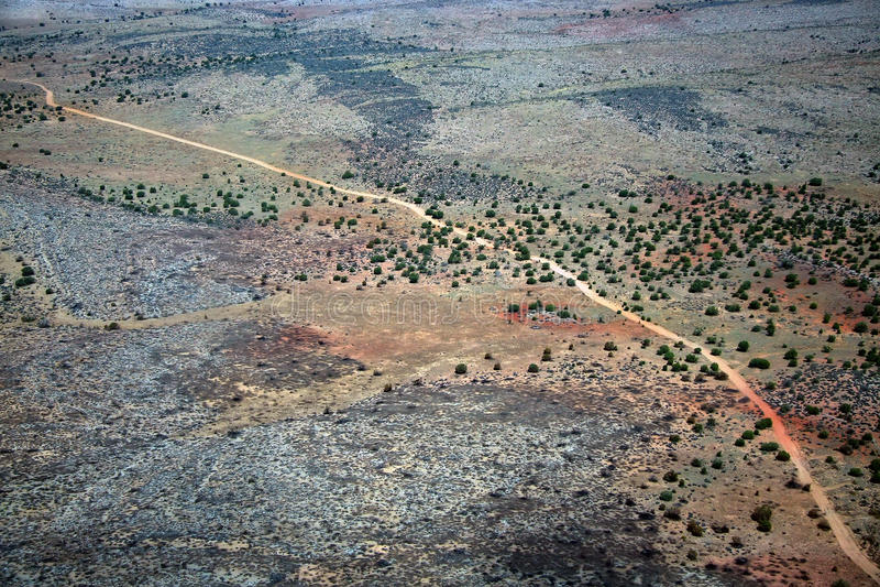 Mojave desert. USA, aerial view stock photography