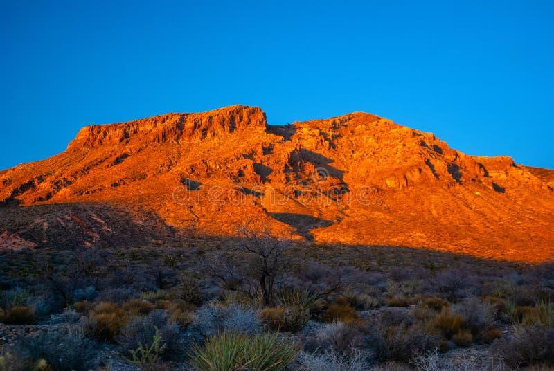 Mojave pustynia Alpenglow zdjęcia royalty free