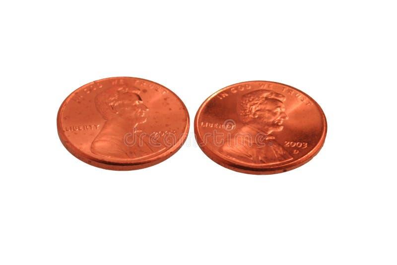 moje dwie monety fotografia royalty free
