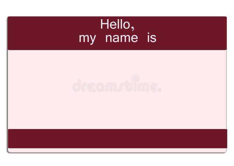 moje imię. ilustracja wektor