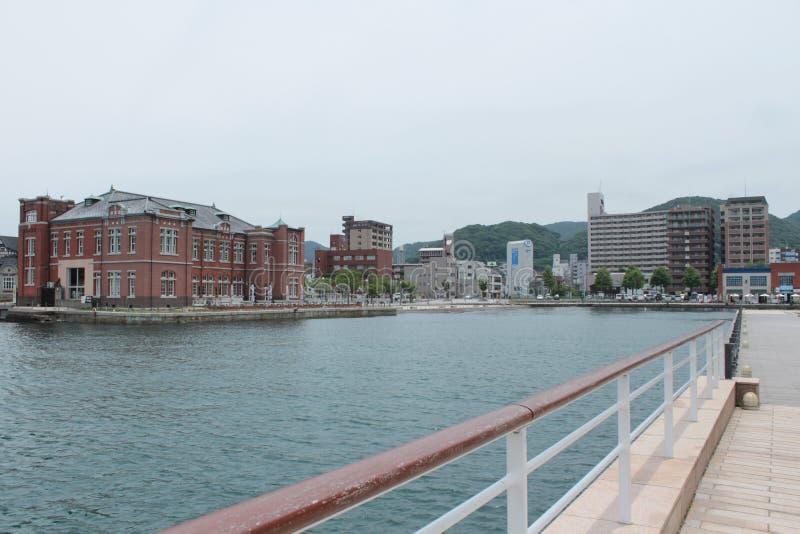 Moji port w Kitakyushu, Fukuoka, Japonia zdjęcia royalty free