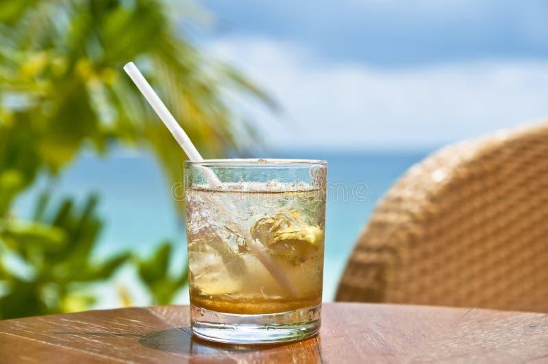 Mojito à un bar de plage images libres de droits