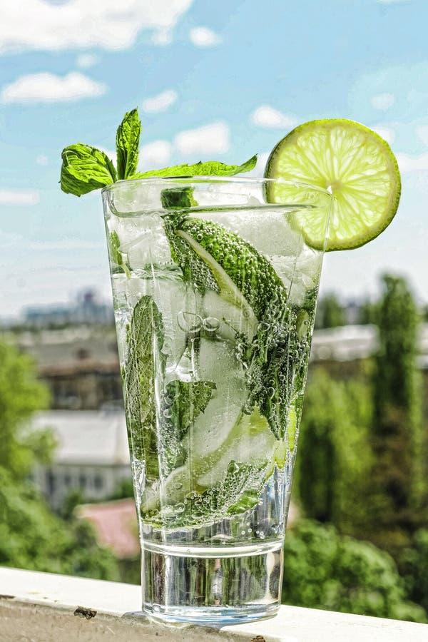 Mojito, álcool, bebida, vidro, caipirinha, brasileiro, spain, co fotos de stock royalty free